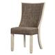 Bolanburg Upholstered Host Chair in White/Oak (Set of 2) D647-02