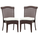 South Sea Rattan Martinique Outdoor Dining Side Chair (Set of 2) 75220