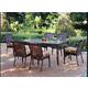 South Sea Rattan Martinique Outdoor 7-Piece Dining Set