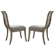 Liberty Furniture Grayton Grove Slat Back Upholstered Side Chair in Driftwood (Set of 2) 573-C1501S