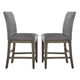 Liberty Furniture Grayton Grove Upholstered Barstool in Driftwood (Set of 2) 573-B650124
