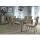 Liberty Furniture Grayton Grove 7pc Rectangular Leg Dining Set in Driftwood