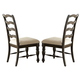 Liberty Furniture Southern Pines Ladderback Side Chair in Bark (Set of 2) 818-C2001S