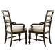 Liberty Furniture Southern Pines Ladderback Arm Chair in Bark (Set of 2) 818-C2001A