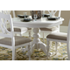 Liberty Furniture Summer House Round Pedestal Table in Oyster White 607-4254