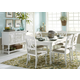 Liberty Furniture Summer House 7pc Rectangular Dining Set in Oyster White