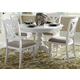 Liberty Furniture Summer House 5pc Round Pedestal Dining Set in Oyster White