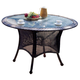 South Sea Rattan Key West Outdoor Round Dining Table in Chocolate 75417-CHO