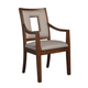Somerton Well-Mannered Arm Chair in Urbane Brown (Set of 2) 803-46