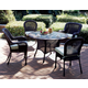 South Sea Rattan Key West Outdoor 5-Piece Round Dining Set in Chocolate