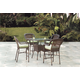 South Sea Rattan Key West Outdoor 5-Piece High Dining Set in Chocolate