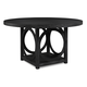 Somerton Nocturne Round Dining Table in Midnight Black 804-61