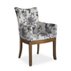 Somerton Sophisticate Arm with Floral Fabric Chair in Beach House Beige (Set of 2) 805F46