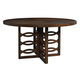 Somerton Claire de Lune Round Pedestal Table in Toasted Nutmeg 801-61