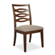 Somerton Claire de Lune Wood Back Side Chair in Toasted Nutmeg (Set of 2) 801-33