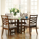 Somerton Claire de Lune 5pc Round Pedestal Dining Set in Toasted Nutmeg