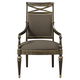 Fine Furniture Belvedere Upholstered Cross Back Arrm Chair in Amalifi (Set of 2) 1152-827