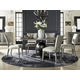 Universal Furniture Curated Rutledge 5-Piece Oval Dining Set in Greystone