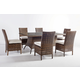 South Sea Rattan Del Ray Outdoor 7-Piece Rectangular Dining Set