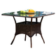 South Sea Rattan Bahia Outdoor Bistro Table in Chocolate 78317