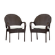 South Sea Rattan Bahia Outdoor Bistro Arm Chair in Chocolate (Set of 2) 78321