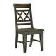 John Thomas Furniture Canyon Double XX Dining Side Chair in Graphite C11-47B