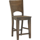 John Thomas Furniture Canyon Counter Height Stool in Graphite (Set of 2) S11-482B