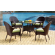 South Sea Rattan Bahia Outdoor 5-Piece Dining Set in Chocolate