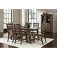 John Thomas Furniture Canyon 7-Piece Extension Dining Room Set in Graphite