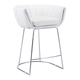 Zuo Modern Latte Counter Chair in White 100249 (Set of 2)