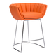 Zuo Modern Latte Counter Chair in Orange 100250 (Set of 2)