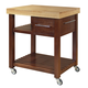 John Thomas Furniture Home Accents Kitchen Island in Cinnamon and Espresso WC58-3