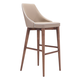 Zuo Modern Moor Bar Chair in Beige 100281