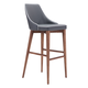 Zuo Modern Moor Bar Chair in Dark Gray 100282