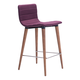 Zuo Modern Jericho Counter Chair in Purple 100273 (Set of 2)