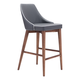 Zuo Modern Moor Counter Chair in Dark Gray 100280