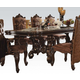 Acme Versailles Pedestal Dining Table in Cherry Oak 61100