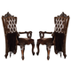 Acme Versailles Arm Chair in L.Brown/Cherry Oak (Set of 2) 61103