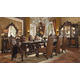Acme Versailles 9-Piece Pedestal Dining Set in Cherry Oak
