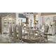 Acme Versailles 9-Piece Pedestal Dining Set in Bone White