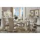 Acme Versailles 9-Piece Rectangular Dining Set in Bone White