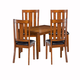 Alpine Furniture Pratt 5 Piece Dining Set with Table and 4 Chairs in Cappuccino