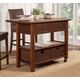 Alpine Furniture Caldwell Kitchen Cart in Antique Cappuccino 6079-05