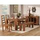 Alpine Furniture Shasta 6-Piece Dining Table Set in Burnished Dark Oak