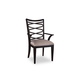 A.R.T. Cosmopolitan Ribbon Back Arm Chair in Ebony (Set of 2) 208211-1815