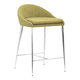 Zuo Modern Reykjavik Counter Chair in Pea 300335 (Set of 2)