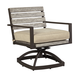 Peachstone Outdoor Swivel Chair w/ Cushion in Beige/Brown (Set of 2) P655-602A