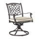 Burnella Outdoor Swivel Chair w/ Cushion in Beige/Brown (Set of 2) P456-602A