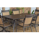 Carmadelia Outdoor Rectangular Dining Table in Brown P376-625