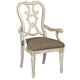 American Drew Southbury Cortona Arm Dining Chair in Fossil and Parchment (Set of 2) 513-637